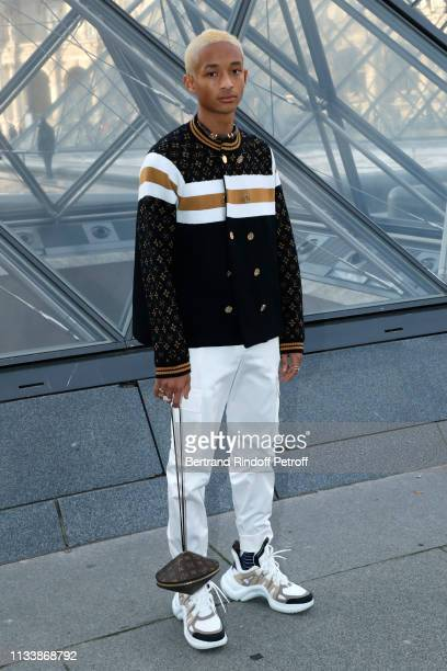 Jaden Smith attends the Louis Vuitton show as part of the Paris Fashion Week Womenswear Fall/Winter 2019/2020 on March 05, 2019 in Paris, France.