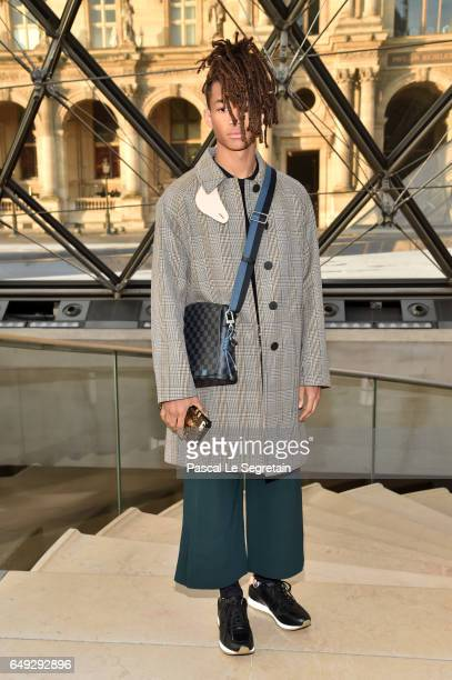 Jaden Smith attends the Louis Vuitton show as part of the Paris Fashion Week Womenswear Fall/Winter 2017/2018 on March 7 2017 in Paris France