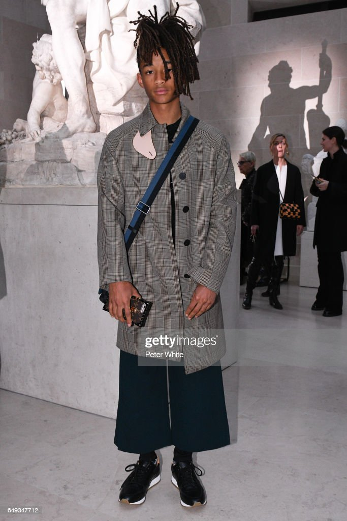 Jaden Smith attends the Louis Vuitton show as part of the Paris Fashion Week Womenswear Fall/Winter 2017/2018 on March 7, 2017 in Paris, France.