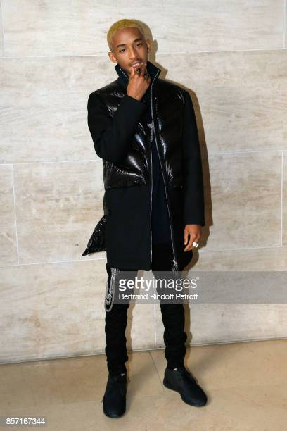 Jaden Smith attends the Louis Vuitton show as part of the Paris Fashion Week Womenswear Spring/Summer 2018 on October 3 2017 in Paris France