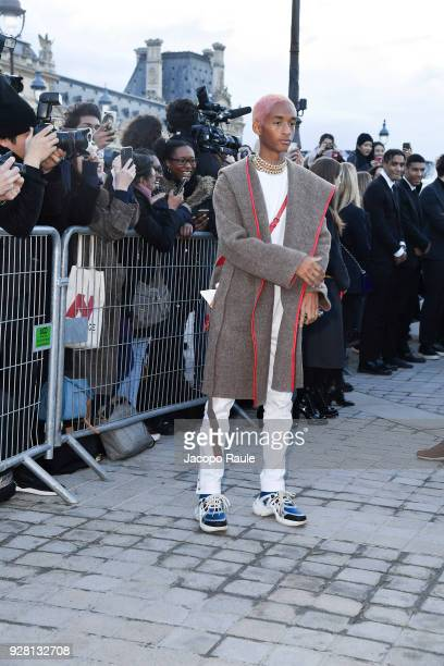 Jaden Smith attends the Louis Vuitton show as part of the Paris Fashion Week Womenswear Fall/Winter 2018/2019 on March 6 2018 in Paris France