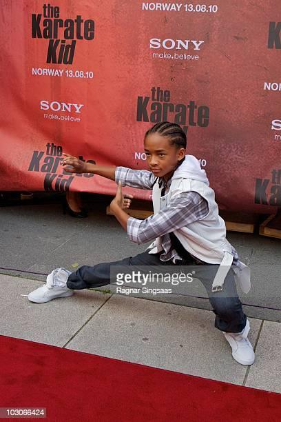 Jaden Smith attends the Norwegian premiere of 'The Karate Kid' on July 23 2010 in Fredrikstad Norway