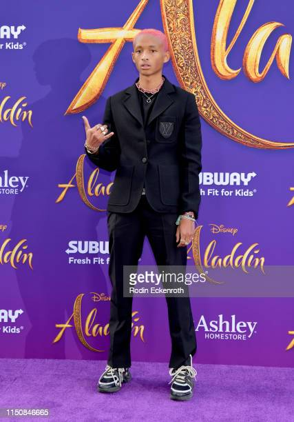 "Jaden Smith attends the premiere of Disney's ""Aladdin"" at El Capitan Theatre on May 21, 2019 in Los Angeles, California."