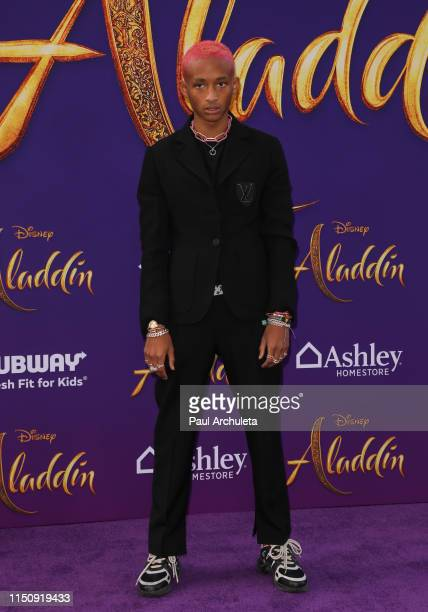 "Jaden Smith attends the premiere of Disney's ""Aladdin"" on May 21, 2019 in Los Angeles, California."
