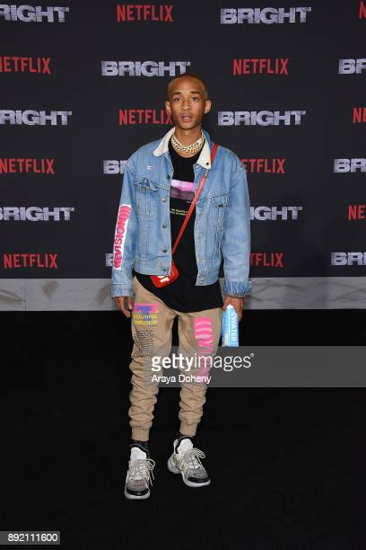 Jaden Smith attends the premiere of Netflix's 'Bright' at Regency Village Theatre on December 13 2017 in Westwood California
