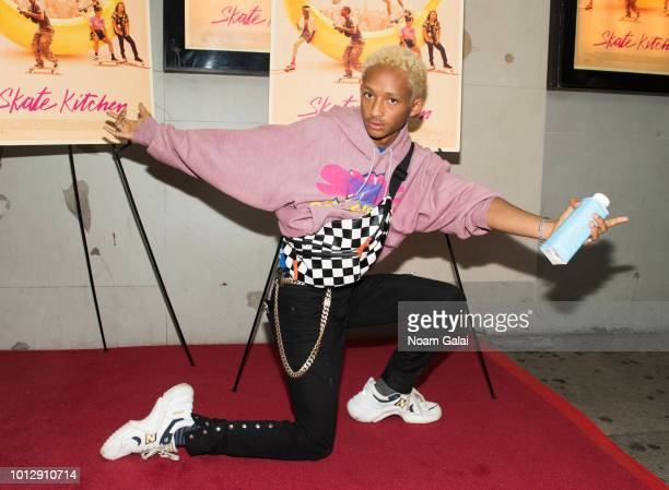 "Jaden Smith attends the ""Skate Kitchen"" New York premiere at IFC Center on August 7, 2018 in New York City."