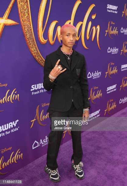 Jaden Smith attends the World Premiere of Disney's Aladdin at the El Capitan Theater in Hollywood CA on May 21 in the culmination of the film's Magic...