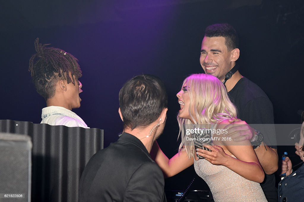 Jaden Smith, Bebe Rexha and Afrojack attend the After Party for the MTV Europe Music Awards 2016 on November 6, 2016 in Rotterdam, Netherlands.