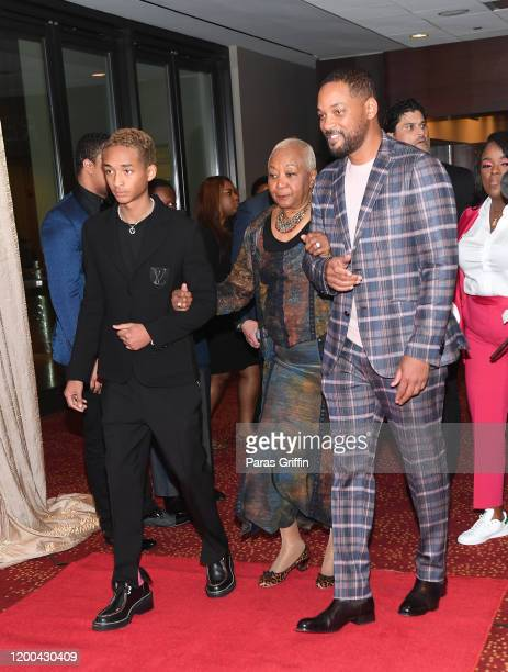 Jaden Smith, Caroline Bright, and Will Smith arrive at 2020 Salute to Greatness Awards Gala at Hyatt Regency Atlanta on January 18, 2020 in Atlanta,...