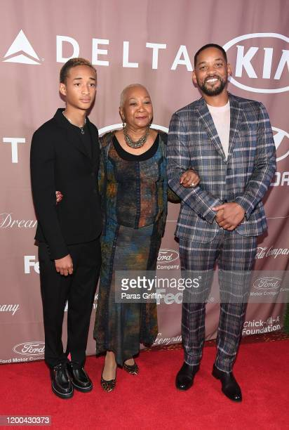 Jaden Smith, Caroline Bright, and Will Smith attend 2020 Salute to Greatness Awards Gala at Hyatt Regency Atlanta on January 18, 2020 in Atlanta,...