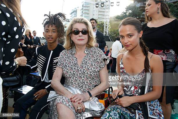 Jaden Smith Catherine Deneuve and Alicia Vikander attend Louis Vuitton 2017 Cruise Collection at MAC Niter on May 28 2016 in Niteroi Brazil