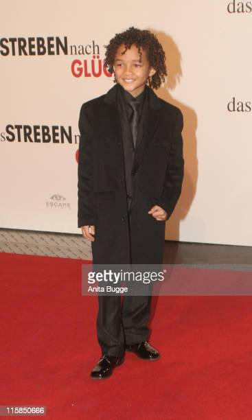 Jaden Smith during 'The Pursuit of Happyness' Germany Premiere January 9 2007 at Movietheatre Cinestar Sony Center in Berlin Germany