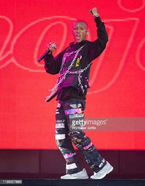 Jaden Smith is seen at 'Jimmy Kimmel Live' on July 10 2019 in Los Angeles California
