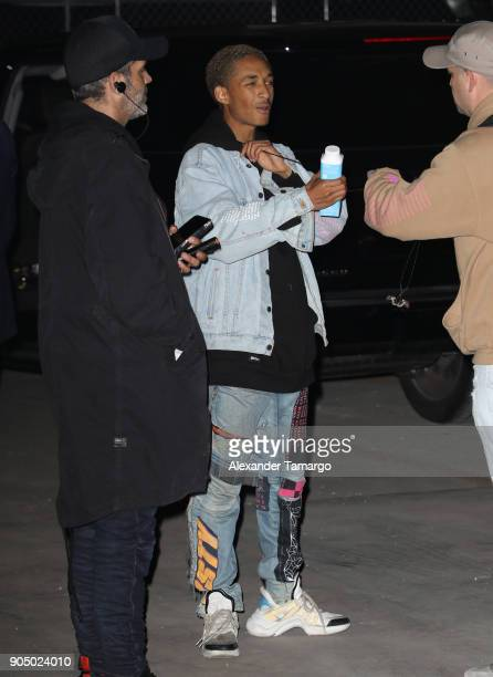 Jaden Smith is seen backstage during Life In Color at Mana Wynwood on January 14 2018 in Miami Florida