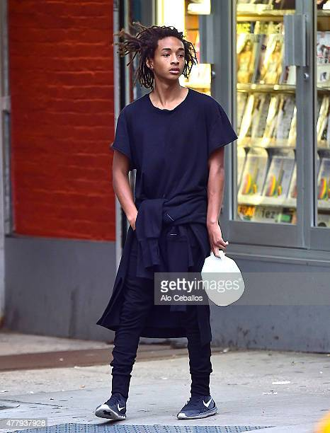 Jaden Smith is seen in Soho on June 20 2015 in New York City