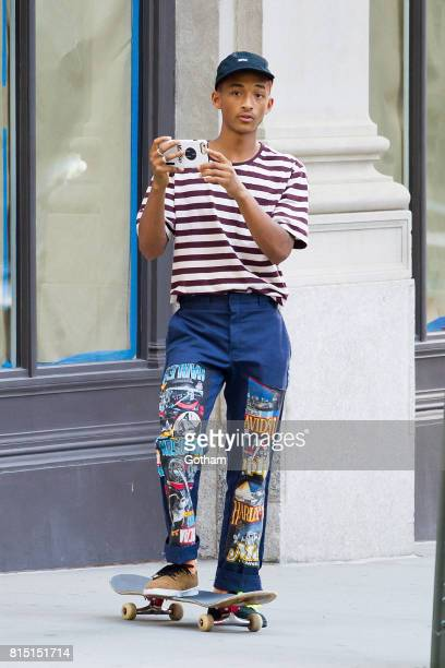 Jaden Smith is seen in Tribeca on July 15 2017 in New York City