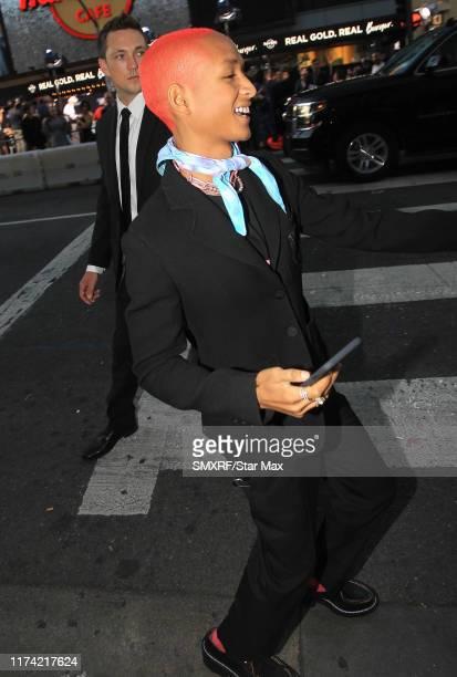Jaden Smith is seen on October 6 2019 in Los Angeles