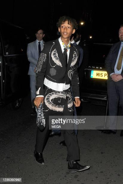Jaden Smith is seen on September 20, 2021 in London, England.