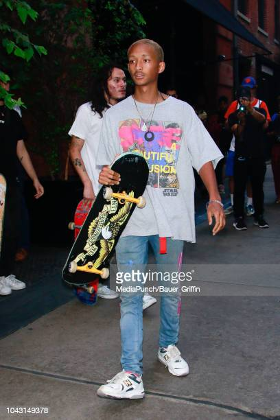 Jaden Smith is seen on September 29 2018 in New York City
