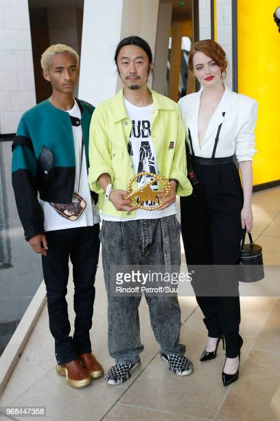 Jaden Smith LVMH Young Designer awarded Masayuki Ino and Emma Stone attend the LVMH Prize 2018 Edition at Fondation Louis Vuitton on June 6 2018 in...