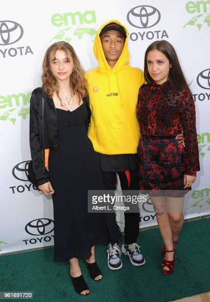 Jaden Smith Odessa Adlon and Gideon Adlon arrive for the 28th Annual EMA Awards Ceremony held at Montage Beverly Hills on May 22 2018 in Beverly...