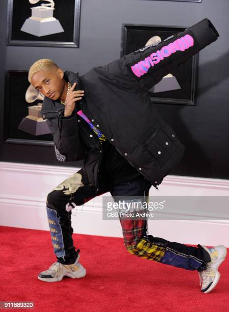 Jaden Smith on the red carpet at THE 60TH ANNUAL GRAMMY AWARDS broadcast live on both coasts from New York City's Madison Square Garden on Sunday Jan...