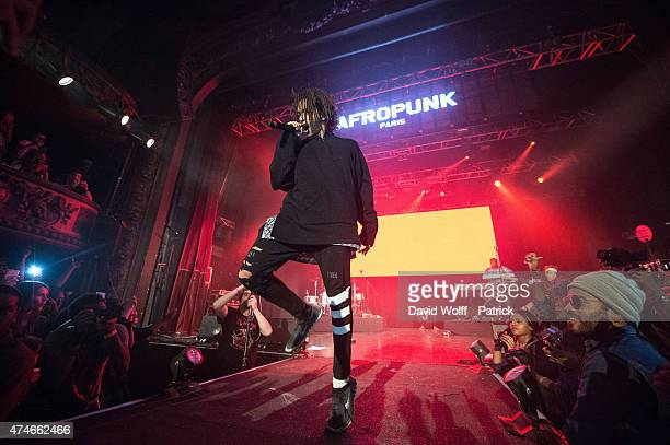 Jaden Smith performs at Afropunk Festival at Le Trianon on May 24 2015 in Paris France