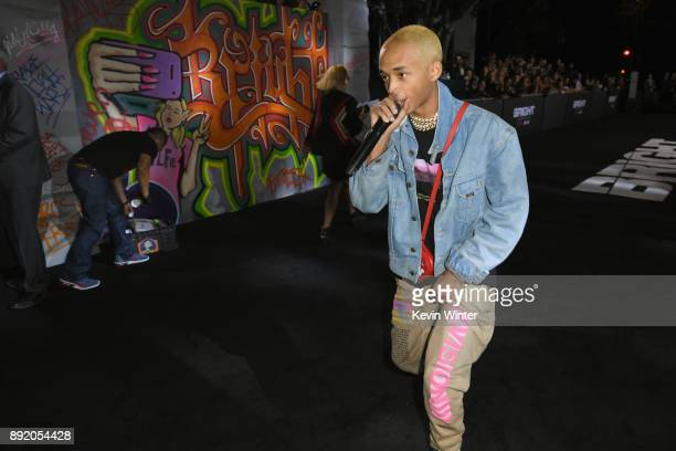 Jaden Smith performs at the Premiere Of Netflix's 'Bright' at Regency Village Theatre on December 13 2017 in Westwood California