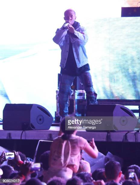 Jaden Smith performs during Life In Color at Mana Wynwood on January 14 2018 in Miami Florida