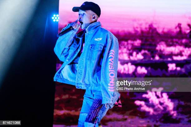 Jaden Smith performs during 'The Late Late Show with James Corden' Monday November 13 2017 On The CBS Television Network
