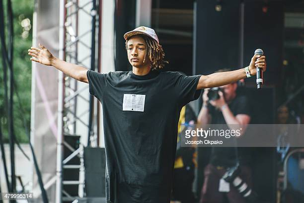 Jaden Smith performs on day 3 of the New Look Wireless Festival at Finsbury Park on July 5 2015 in London England