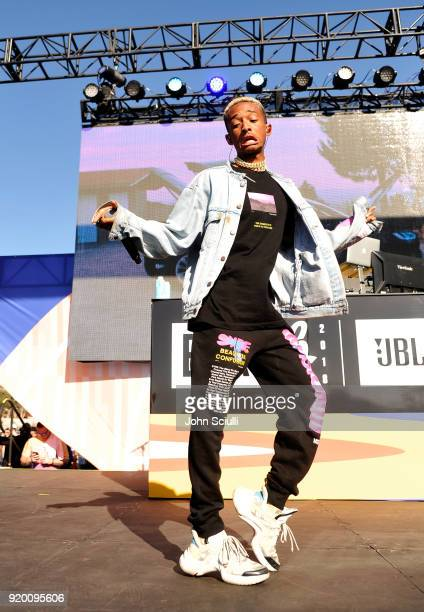 Jaden Smith performs onstage during McDonald's at Bleacher Report AllStar Experience on February 18 2018 in Santa Monica California