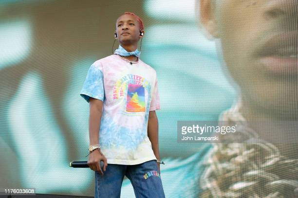 Jaden Smith preforms during Greta Thunberg's Youth Climate Strike in an effort to promote awareness and change to current global enviornmental...