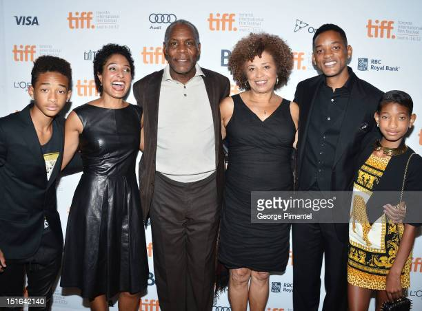 Jaden Smith Shola Lynch Danny Glover Angela Davis Will Smith and Willow Smith attend the 'Free Angela All Political Prisoners' premiere during the...