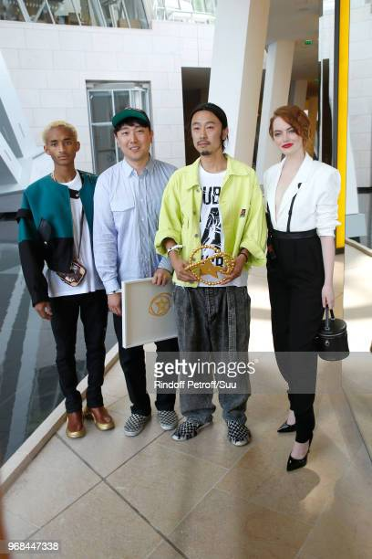 Jaden Smith Special Prize Rok Hwang LVMH Young Designer awarded Masayuki Ino and Emma Stone attend the LVMH Prize 2018 Edition at Fondation Louis...
