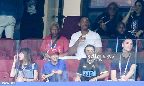 Jaden Smith Will Smith during the 2018 FIFA World Cup Russia Final match between France and Croatia at Luzhniki Stadium on July 15 2018 in Moscow...