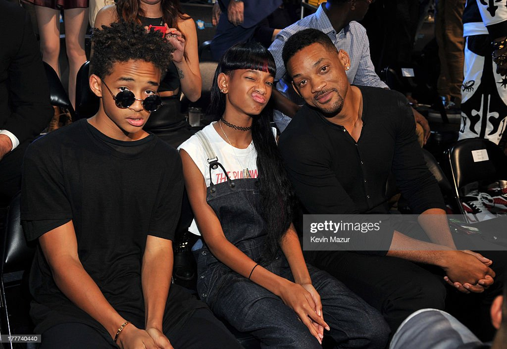 Jaden Smith, Willow Smith and Will Smith attend the 2013 MTV Video Music Awards at the Barclays Center on August 25, 2013 in the Brooklyn borough of New York City.