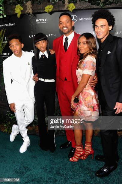 Jaden Smith Willow Smith Will Smith Jada Pinkett Smith and Trey Smith attend Columbia Pictures and MercedesBenz Present the US Red Carpet Premiere of...