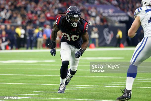 Jadeveon Clowney of the Houston Texans in action during the game against the Indianapolis Colts at NRG Stadium on December 9 2018 in Houston Texas...