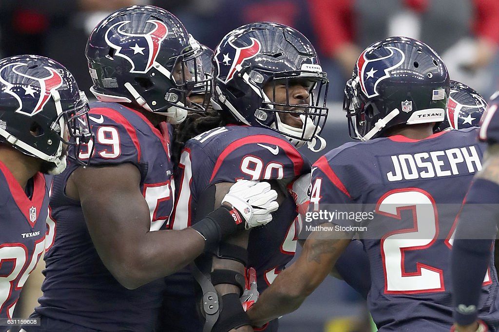 ff7880ae2b2 Jadeveon Clowney of the Houston Texans is congratulated by his ...