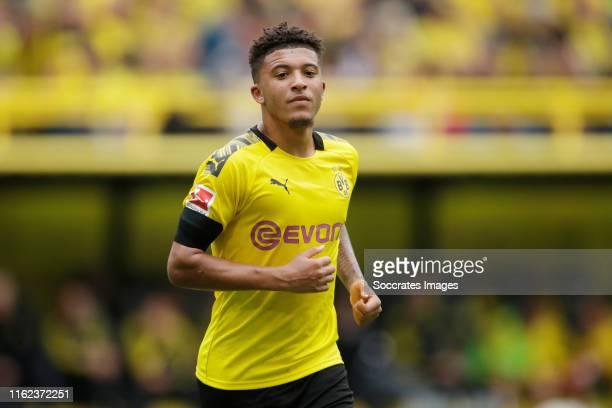 Jadon Malik Sancho of Borussia Dortmund during the German Bundesliga match between Borussia Dortmund v FC Augsburg at the Signal Iduna Park on August...