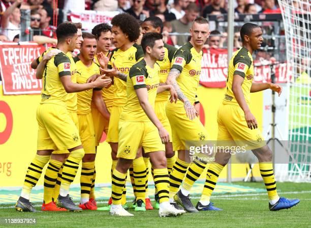 Jadon Malik Sancho of Borussia Dortmund Mario Goetze of Borussia Dortmund Thomas Delaney of Borussia Dortmund Axel Witsel of Borussia Dortmund Manuel...