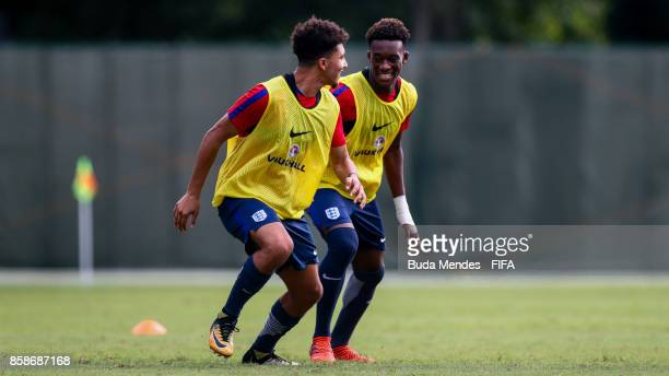 Jadon Sancho and Tashan OakleyBoothe of England in action during training session ahead of the FIFA U17 World Cup India 2017 tournament at Kolkata 3...