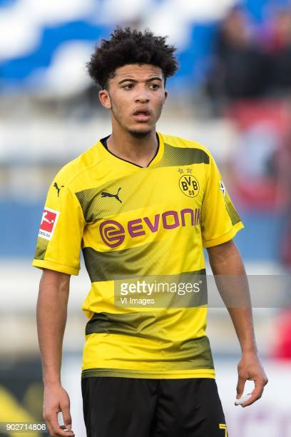 Jadon Sancho of Borussia Dortmund during the friendly match between Borussia Dortmund and Zulte Waregem at the Estadio Municipal Marbella on January...