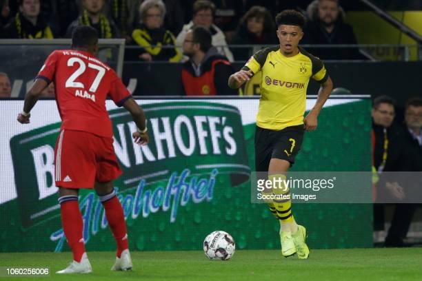 Jadon Sancho of Borussia Dortmund during the German Bundesliga match between Borussia Dortmund v Bayern Munchen at the Signal Iduna Park on November...