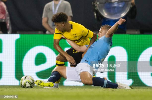 fans of Borussia Dortmund during the Preseason friendly between Manchester City and Borussia Dortmund on July 20 2018 in Chicago United States