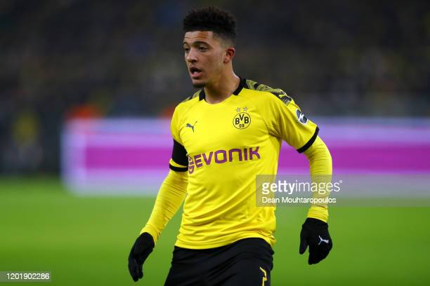 Jadon Sancho of Borussia Dortmund in action during the Bundesliga match between Borussia Dortmund and 1 FC Koeln at Signal Iduna Park on January 24...