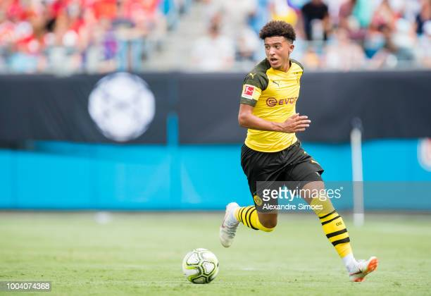 Jadon Sancho of Borussia Dortmund in action during the International Champions Cup 2018 as part of the Borussia Dortmund US Tour 2018 on July 22 2018...