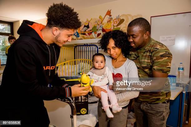 Jadon Sancho of Borussia Dortmund is seen during the annual visit of Borussia Dortmund at the children's hospital on December 13 2017 in Dortmund...