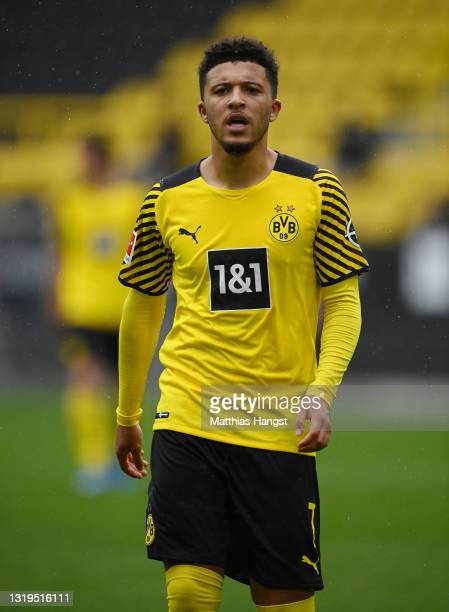 Jadon Sancho of Dortmund seen during the Bundesliga match between Borussia Dortmund and Bayer 04 Leverkusen at Signal Iduna Park on May 22, 2021 in...